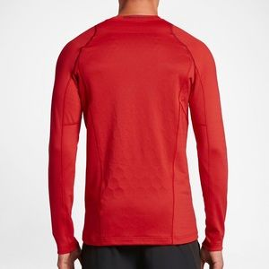 Nike pro ultra warm red long sleeve athletic shirt